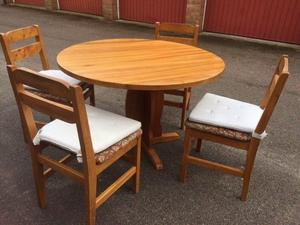 Circular Dining Table and 4 Chairs Can Deliver