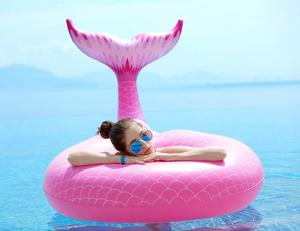 Inflatable Pool Floats Giant Mermaid Tail Floaters Ride-On