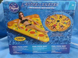 "NEW SEALED BOX Swimline 70"" Pool Pizza Slice Float Raft FREE"