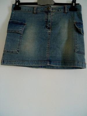 New Item! Ladies Light Blue denim Mini Skirt.