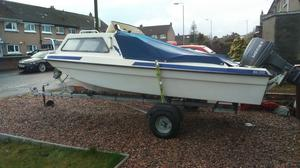 Seahog fishing boat with 40hp mariner outboard