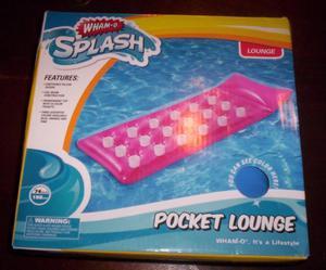 Wham-O Splash Pocket Lounge Blue Inflatable Ride On Pool