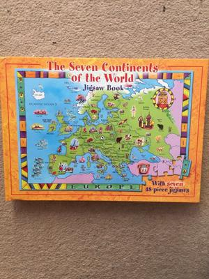 The seven continents of the world jigsaw