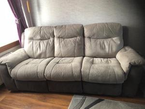 3 Seater Electric Reclining Sofa and 2 Seater Sofa