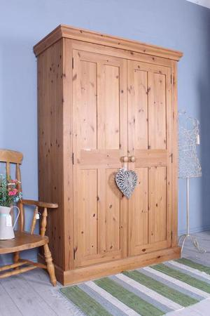 DELIVERY OPTIONS - LARGE DOUBLE PINE WARDROBE QUALITY MADE