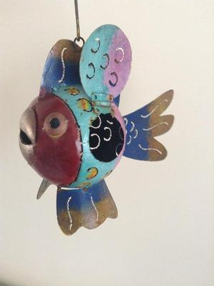 Fish garden tea light holder