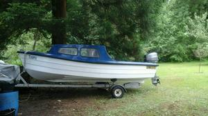 Mayland 14ft Fishing Boat with Trailor and 30hp Mariner Outboard