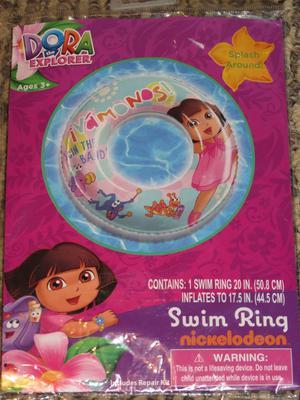 Nickelodeon Dora the Explorer Swim Ring Pool Float Ages 3+
