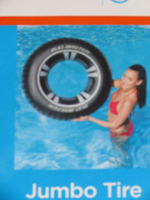 True Living Inflatable Jumbo Tire Pool Float Ages 10+ NEW