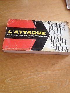 Vintage L'Attaque Board Game c.