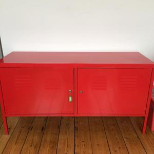 Ikea Ps Red Metal Cabinet Posot Class