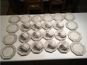Eternal Beau 12 Cups, Saucers and Plates by Johnsons in