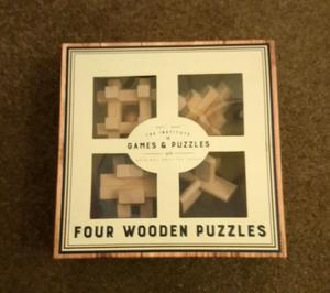 Four wooden puzzles box set