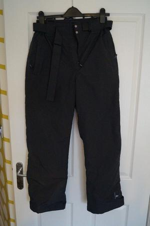 Ladies Quechua ski trousers, size , charcoal grey