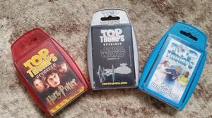 Set of three Top Trumps cards Harry Potter, Star Wars, Football World Stars