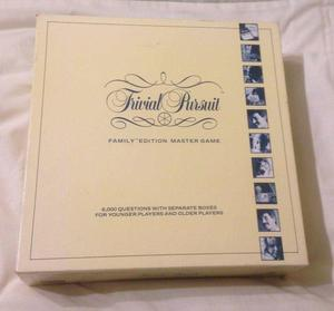 Trivial Pursuit Family Edition Master Game . Complete And Very Good Condition.