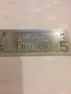 US 5 Dollar Silver Plated