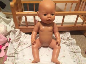 Baby Born doll with clothes and accesories