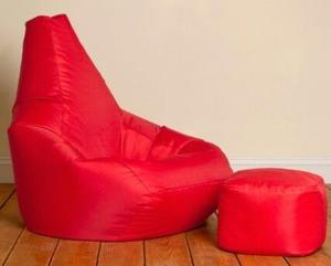 Bean Bag Chair and Foot Stool