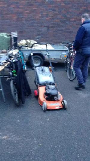 Briggs Stratton petrol rear roller mower