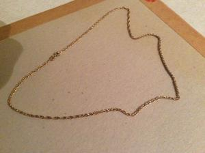 Gold plated solid silver chain hallmarked