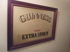 Guinness Extra Stout large Pub Mirror