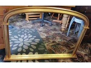 Large Gold Over Mantel Mirror in Dewsbury