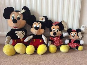 Mickey Mouse and Minnie Mouse soft toys