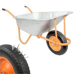 New DJM Heavy Duty Galvanised Steel Garden Wheelbarrow 90ltr