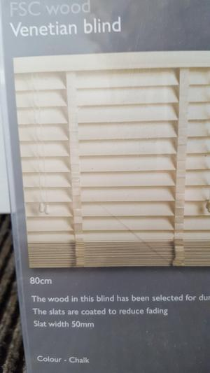 New Wooden Venetian blind in CHALK colour