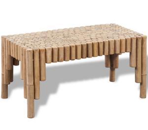 vidaXL Bamboo Coffee Table  New