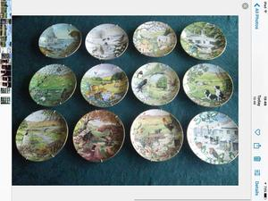 Complete Set Franklin Mint All Creatures Great and Small Plates. Limited first edition .
