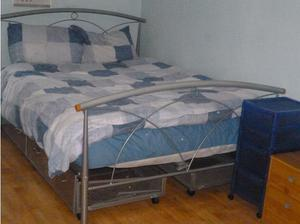 Double Bed Frame + 4 Matching Underbed Storage Draws in
