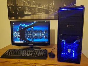 Gaming PC, Intel Core iGB RAM, 1TB HDD, Nvidia GTX750, MSI, Samsung Monitor, Windows 10
