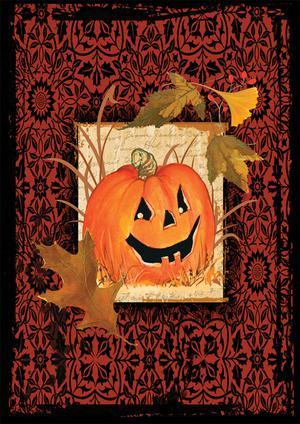 "Halloween Gothic Pumpkin Toland Small Garden Flag 12.5"" x"
