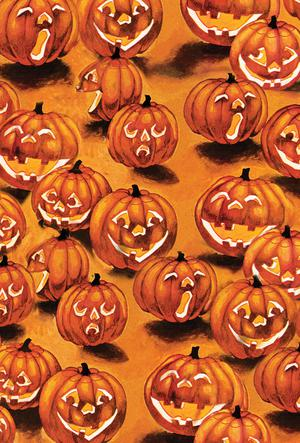 Halloween Jack-O-Lantern s in the Dark Toland Garden Flag