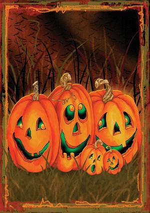 Halloween Jack-o-Lantern Night Toland Small Garden Flag