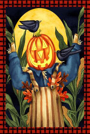 Halloween Scare Crow Pumpkin Head Toland Small Garden Flag