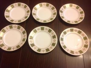 Spode Bone China Green Persia Tea Plates