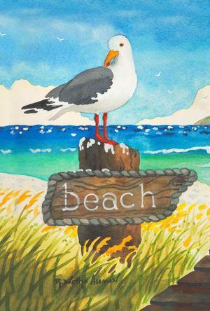 Toland Home Garden Beach Bird 28 x 40 Inch Decorative Summer
