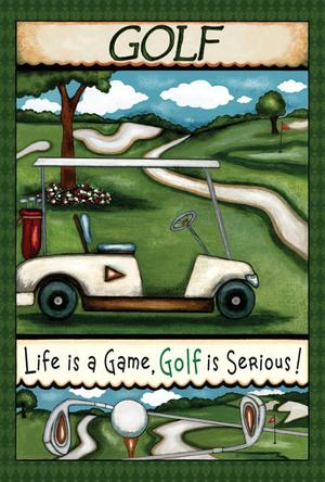 Toland Home Garden Going Golfing 28 x 40 Inch Decorative Fun
