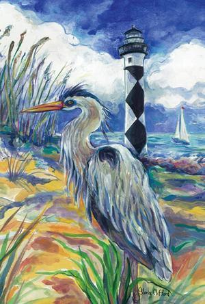 Toland Home Garden Lighthouse Heron 28 x 40 Inch Decorative