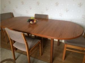extending wooden table and chairs in Yeovil
