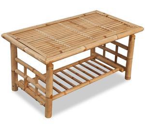 vidaXL Coffee Table Bamboo 90x50x45 cm  New