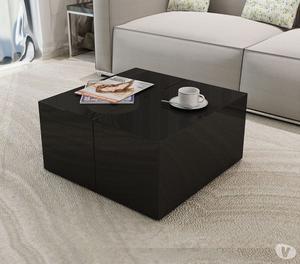 vidaXL Coffee Table High Gloss Black  New