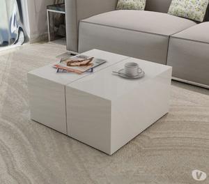 vidaXL Coffee Table High Gloss White  New