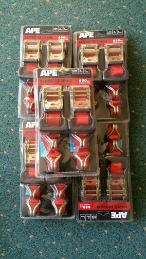 Ape ratchet tie down straps twin pack