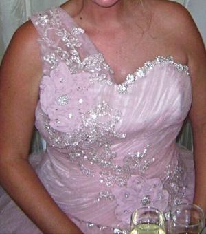 Gorgeous Pink Wedding Dress - Size