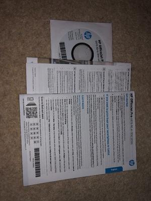 HP OfficeJet pro  all in one - used once!