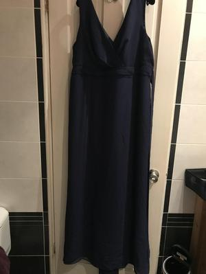 Navy full length bridesmaid dress for sale